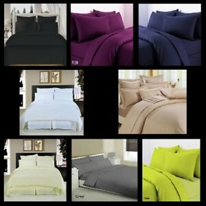 *NEW* Premium QualityT300 100% Egyption Cotton Fitted Sheets Multicolor & Sizes
