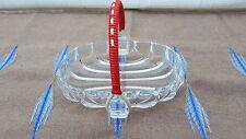 Vintage Glasschale 50er 60er Jahre Dekoration Konfektschale Glas