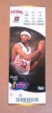 Detroit Pistons Ticket Stub picturing Richard Hamilton Mon Jan 17 !