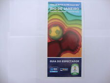 2014 World Cup Finals Official Rio de Janeiro Spectator Guide in Portuguese MINT