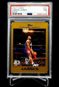 2007 Topps Gold Lebron James #23 #'d 0043/2007 PSA 7 Cavs Heat Lakers