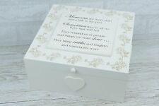 Large Memory Box Wooden Keepsake Chest Memories Smiles & Laughter F1652-W33