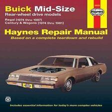 Buick Mid-size Rear Wheel Drive Models 1974-87 Owner's Workshop Manual (Haynes O
