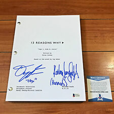 DYLAN MINNETTE & KATHERINE LANGFORD SIGNED 13 REASONS WHY PILOT SCRIPT w/ COA