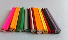 10 tiges batons cane fimo Bijoux 3D Ongles nail animaux chat coccinelle + lame