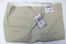 Roundtree & Yorke Flat Front Cargo Shorts Khaki Tan W52 52B Big Man  $59.50 NWT