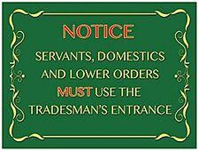 Tradesman's Entrance funny fridge magnet (og)