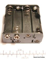 Battery holder for 8 x AA (UM-3) cells - stud contacts - black