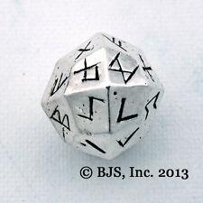 Elder Futhark Rune Dice, Silver Norse Rune Casting Die, Viking Runes, New