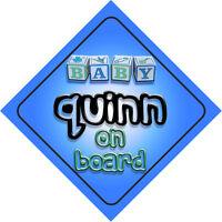 Baby Quinn On Board Car Sign New Boy/Birthday Gift