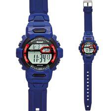 Scout Kinder Armbanduhr Jungen 308001 Licht Alarm Stoppfunktion Kunststoff blau