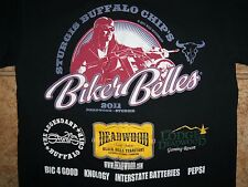 Biker Belles Sturgis Buffalo Chips 2011 Motorcycle Rally Graphic Print T Shirt M