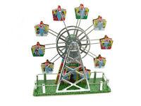 Blechspielzeug - Riesenrad mit Aufziehwerk und Musikspieluhr