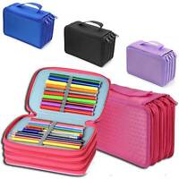 Large 72 Slot Pen Pencil Cases Stationery Pouch Bag Case School College Parts