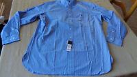 Polo Ralph Lauren Mens BLUE Striped Button-Front Dress Shirt NWT 16-32/33 SIze L