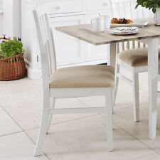 Florence Kitchen High Back Chair. White Dining Chair With Cushion Seat. Solid up