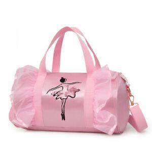 Large Personalised Dance Barrel Bag Girls Glitter Ballet Childrens Gym Kit Gift