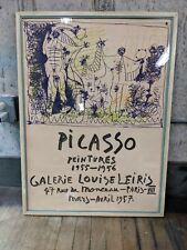 Original Vintage Picasso Gallery Poster Galerie Louise Leiris 1957 Pablo Picasso