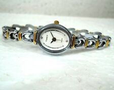 TIMEX CLASSIC SILVER DIAL STEEL CASUAL LADIES WATCH SMALL 17 MM  GORGEOUS