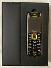 V3 Unlocked Dual Sim Mobile Phone With Pouch, Black Gold Colour, GSM 2G, MP3
