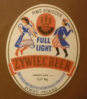 OLD POLISH BEER LABEL, BROWAR ZYWIEC POLAND, FULL LIGHT 1