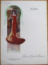Grand Marnier 1910 Art Nouveau French Advertising Menu - Mademoiselle Mars