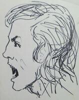 Old Drawing On Basket Studio Portrait Male Man Vintage Sketch P28.8
