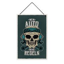 Auto Regeln 20 x 30 cm Holz-Schild 8 mm Spruch Motiv Geschenk Männer Lustig Cool