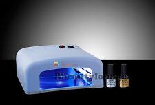 Aw 36w Blanco Gel Uv Para Uñas Lámpara secador Bluesky 10ml Top & capa base Starter Kit