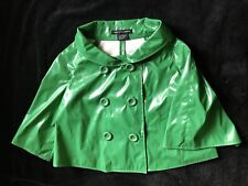 XLNT Girls Sz 8/10 Girls SAKS FIFTH AVENUE GREEN Swing Rain Coat Jacket Designer