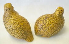 Vintage Quail Salt And Pepper Shakers Detailed Japan H757 Excellent Condition