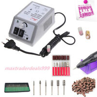 Electric Nail File Drill Machine Nail Care Manicure Pedicure Gel Nail Set Kit
