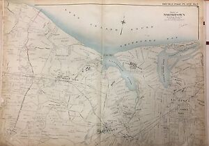 1909 KINGS PARK SMITHTOWN NISSEQUOGUE ST. JAMES COMMACK LONG ISLAND NY ATLAS MAP