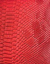 "Faux Viper Sopythana Snake Skin Vinyl Fabric - Sold By The Yard - 52"""