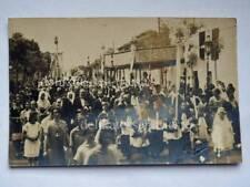 TRIESTE BARCOLA processione vecchia cartolina AK foto Penco bis