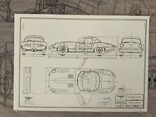 Jaguar E-Type Konstruktionszeichnung