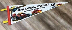 PENN NATIONAL SPEEDWAY GRANTVILLE PENNSYLVANIA 70s AUTO RACE TRACK PENNANT