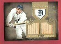 TY COBB 2011 TOPPS TIER 1 GAME USED BAT CARD #d73/99 DETROIT TIGERS HALL OF FAME