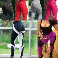 Sexy Women Push Up Yoga Leggings Running Stretch Fitness Gym Elastic  Trousers