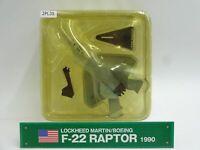 Del Prado Lockheed F22 Raptor 1/145 Scale War Aircraft Diecast Display 2PL35