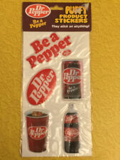1982 Dr. Pepper PUFFY Stickers Gordy International SEALED Brand New Vintage