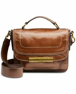 $298 NWT Calvin Klein Wendy Leather Small Top Handle Crossbody Bag, MSRP $298