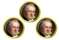 President James Buchanan Marqueurs de Balles de Golf