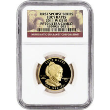 2011-W US First Spouse Gold 1/2 oz Proof $10 - Lucy Hayes NGC PF70