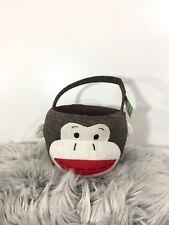 Sock Monkey Child's Easter/Trinket Basket New Toys Novelty Collectible Animal