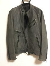 JULIUS 2008AW Buffalo leather Jacket Gray Size 2 Used from Japan