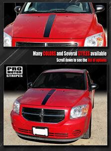 Dodge Caliber 2007-2012 Hood Center Accent Stripe Decal (Choose Color)