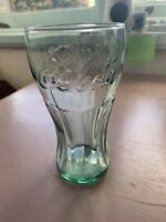 Large Coca Cola Coke Glass With Green Tint