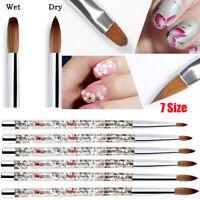 7 Sizes Acrylic Nail Brush 100% Nylon Manicure Acrylic Nail Round Nail Art Brush