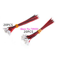 40pcs=20 Female+20 male Micro JST 1.25 100mm Length: Cables Wire With Connector